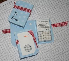 snowman kisses tic tac holder :) gotta make one for Nana! she is known for always having tic tacs! Noel Christmas, Christmas Projects, Winter Christmas, All Things Christmas, Holiday Crafts, Holiday Fun, Little Presents, Little Gifts, Ideas Geniales