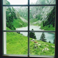 Mein Schweizer Sommer - von Bergen und Palmen - Reisetipps Bergen, Window View, Window Panes, Through The Window, Running Away, Alps, The Great Outdoors, Curb Appeal, Wonders Of The World