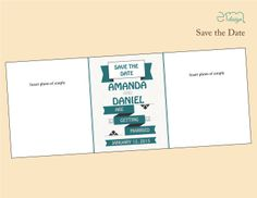 Blue and Gray Save the Date Design by EmDesign
