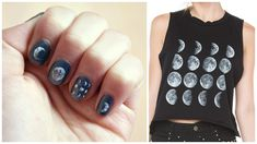 DIY Moon Phase Nails ☾ Brandy Melville Inspired