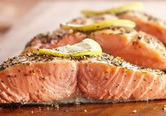 Diabetic Montreal-Style Salmon Recipe from Diabetic Gourmet Magazine, plus many more recipes for a healthy diabetic diet.