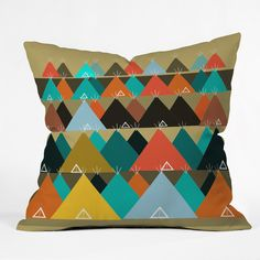 Brian Buckley Tipi Mountain Throw Pillow | DENY Designs Home Accessories