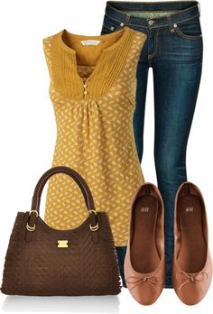 "{""Yellow Tunic"" by wherecoconutgrows on Polyvore} i've been looking for a mustard shirt/sweater!!"
