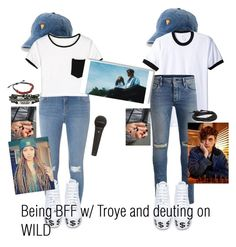 """""""Troye Vibes Today IDFKWT"""" by delusional-roses ❤ liked on Polyvore featuring SO, American Apparel, Jack & Jones, Dorothy Perkins, WithChic, Jeffrey Campbell and Jan Leslie"""