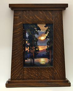 "Jan Schmuckal   ""Across The Lake""   Arts and Crafts Frame   Craftsman   Bungalow"