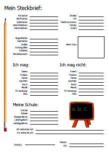 steckbrief sprache deutsch unterricht steckbrief und deutsch. Black Bedroom Furniture Sets. Home Design Ideas