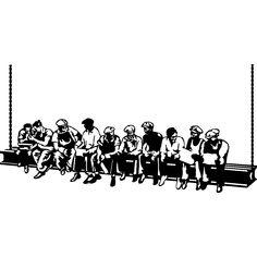Muurstickers Straatcultuur - Muursticker Lucht lunchpauze van werknemers - ambiance-sticker.com Vans New York, Arte Pop, Cool Designs, Darth Vader, Drawings, Face, Graphics, Cut Outs, Painting