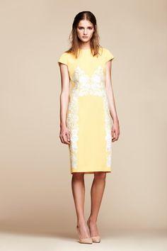 2014_SS_RESORT #Mantù #Yellow dress #embroidery