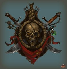 Rogue emblem, Alexander Bocharov on ArtStation at https://www.artstation.com/artwork/Bavbk