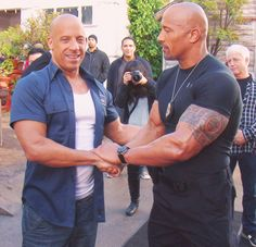 Vin Diesel & Dwayne Johnson - this picture makes me so happy