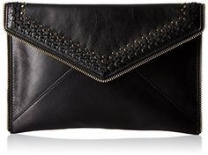 Rebecca Minkoff Leo with Studs Envelope Clutch, Black, One Size $65.89
