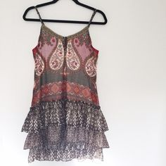 Band of Gypsies • Printed Drop Waist Dress Barely worn! Great condition. Purchased from Urban Outfitters. Will post photos modeling this weekend. Measurements by request.  ❌No trades ❌No PayPal ❌No asking for the lowest price Band of Gypsies Dresses Mini