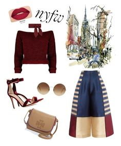 """""""Nyfw"""" by anggiianaa ❤ liked on Polyvore featuring Chloé, Gianvito Rossi, Tory Burch, Victoria Beckham and Smashbox"""