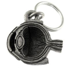 Human eye cross-section keychain - could be a fun gift for the ophthalmic professional in your life!