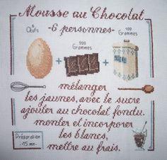 point croix mousse au chocolat