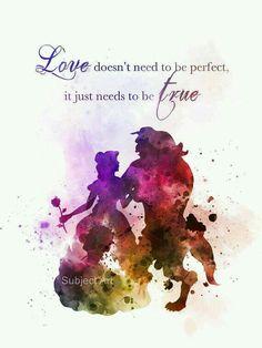 O amor não precisa ser perfeito, só precisa ser verdade