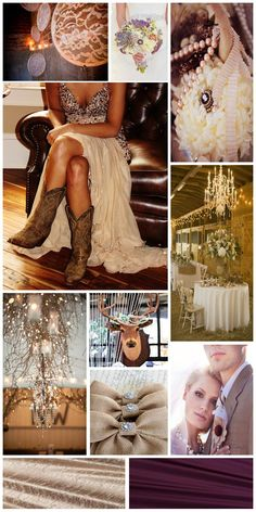 The Design Dish :: Rustic Glam Wedding, inspiration board designed by The Simplifiers: Event Planning and Personal Concierge Country Style Wedding, Chic Wedding, Wedding Styles, Rustic Wedding, Our Wedding, Wedding Photos, Dream Wedding, Wedding Cross, Wedding Beach