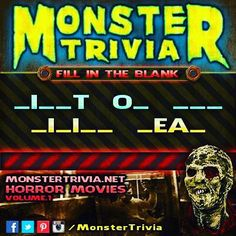 #Monster #Trivia #Contest: Fill in the Blank!! #HauntedHouse #MonsterTrivia for September 11th #PRIZE: 2 #FREE Tickets to the #Haunted #Elementary for Opening Night! Heres how to win: 1.) #LIKE & #SHARE this post 2.) #Comment with the correct answer & #TAG the person that youd bring if you won. You need to do these 2 things to be eligible. One #Winner will be randomly selected #Tomorrow! This contest is in no way sponsored endorsed or administered by or associated with Facebook or Instagram.
