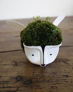 anna garforth, recycled milk jug planter