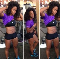 Fit Black Girl with Natural Hair
