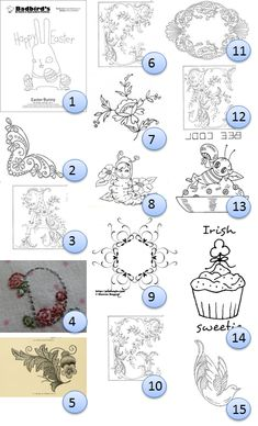 Even more free hand-embroidery designs · Needlework News | CraftGossip.com