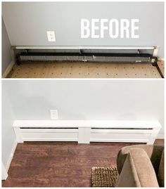 Shaker Style - Custom Baseboard Heater Covers - Custom Sizes Available - DIY INSTALL - Retrofit or New - Replacement Radiator Covers Baseboards, Remodel, Diy Remodel, Home, Home Diy, Home Renovation, Baseboard Heater Covers, Floor Heater, Shaker Style