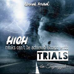 High ranks ... Achieved through Trials -  #quran #islam