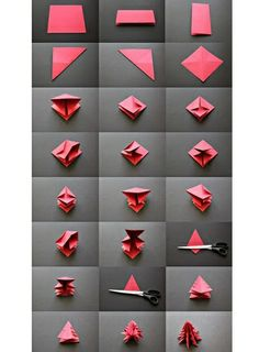 Photo Un sapin de Noël en origami - 30 idées déco pour une ambiance de Noël à petits prix - Lifestyle - Be.com