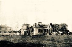 Southdown Plantation home before second floor was added in the 1890's. Circa 1880's. Houma, LA