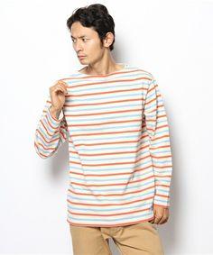 CIAOPANIC TYPY / MENS(チャオパニックティピー / メンズ)の【ORCIVAL】コットンロードボーダー(Tシャツ・カットソー)|ブルー系その他