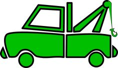 svg trucks | Green Tow Truck clip art - vector clip art online, royalty free ...