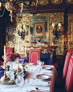 "Umberto on Instagram: ""#courtesy @alidad_ltd #via @houseandgardenuk #interior #details #diningroom"" Interior Design Gallery, Leather Wall, European Home Decor, European Style, Painting Leather, Dining Room Walls, Classic Interior, Furniture Arrangement, Arranging Furniture"