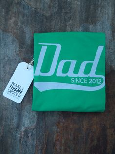 #etsy Dad Since 2012 - Personalized With Any Year - Cotton Men's Standard T-Shirt - FREE SHIPPING