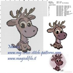 Sven (Frozen) cross stitch pattern