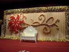 Bangalore Stage Decoration - Design Wedding Okay - Wedding Planning Portal - Bangalore Surprise Party Decorations, Wedding Hall Decorations, Birthday Balloon Decorations, Marriage Decoration, Engagement Decorations, Flower Decorations, Decor Wedding, Wedding Ideas, Stage Decoration Photos