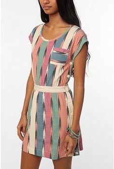 Ikat Side-Button Dress