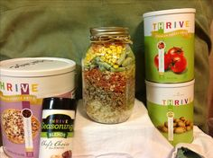 Recipes in a jar using Thrive Life food. https://www.thrivelife.com/dailyfoodquest/blog. Or https://www.facebook.com/pages/Daily-food-quest/225071644326475?ref=hl