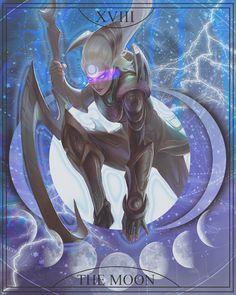 tarot card: diana (XVIII, the moon) by afdez on DeviantArt Lol League Of Legends, Tarot Cards, Diana, Moon, Wallpapers, Deviantart, Cool Stuff, Girls, Anime