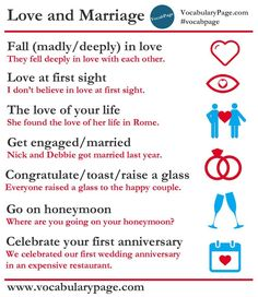 Collocations about Love and Marriage. Do you believe in love at first sight?