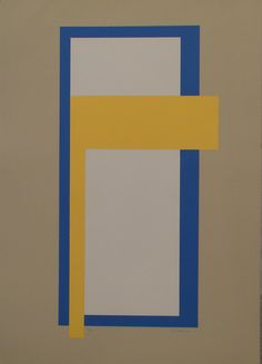 Juhana Blomstedt: Afrodite, 1988, serigrafia, 68x49 cm - Galleria Bronda Finland, Minimalist, Symbols, Letters, Paintings, Abstract, Frame, Pictures, Home Decor