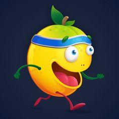 "Mango man. ""Fueled on fruit."" #mango #juicy #fruit  #fun #happy #fit #healthy #running #illustration #drawing #cartoon #art #fitness #run #trail"