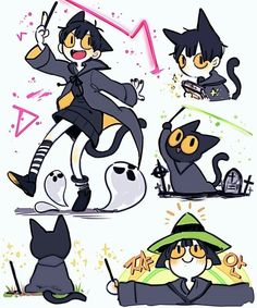 Cat Character, Character Design References, Character Drawing, Character Concept, Concept Art, Cartoon Kunst, Anime Kunst, Anime Art, Cute Art Styles