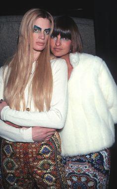 Linda Evangelista and Kristen McMenamy during New York Fashion Week Fall 1997; April 8, 1997   - MarieClaire.com