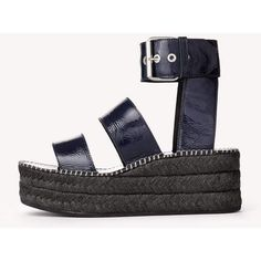 Tara Espadrille Sandal ($495) ❤ liked on Polyvore featuring shoes, sandals, navy, platform espadrille sandals, navy platform sandals, espadrille sandals, platform sandals and rag bone shoes