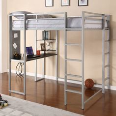 FREE SHIPPING! Shop Wayfair for DHP Abode Full Loft Bed with Built-In Ladder, Desk & Bookshelves - Great Deals on all Furniture products with the best selection to choose from!