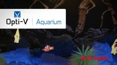 Imagine, a maintenance-free Aquarium that looks and sounds exactly like the real thing. The Opti-V™ Aquarium uses unprecedented technology to render a virtual aquarium experience that is stunningly beautiful and maintenance-free. The patent protected design features ultra-realistic swimming fish within a three dimensional environment that is vibrant in both color and definition. The perfect blend of magic and realism, the Opti-V™ Aquarium is virtually amazing.