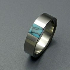 Minter + Richter | Titanium Rings - Turquoise Wedding Rings | Titanium Rings | Minter + Richter