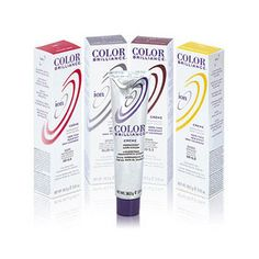 Ion Color Brilliance red hair dye from Sally Beauty Supply.