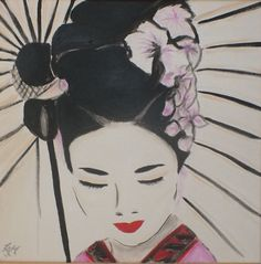 """Geisha"" 40x40cm canvas"