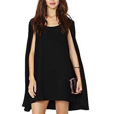 manga cap chiffon mini vestido das mulheres - EUR € 22.99